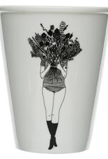 PORSELEINEN BEKER - Flower Girl