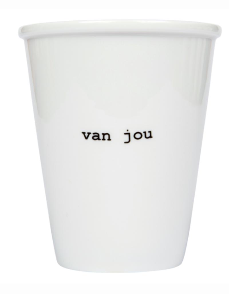 PORSELEINEN BEKER - Van Jou
