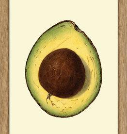 Eiken kader met opengesneden avocado ( 15x21cm)
