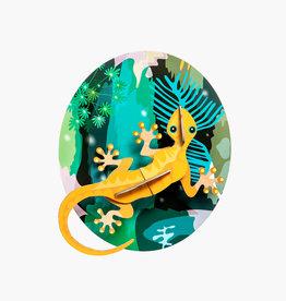 DIY DECORATION MURAL - Jungle Gecko