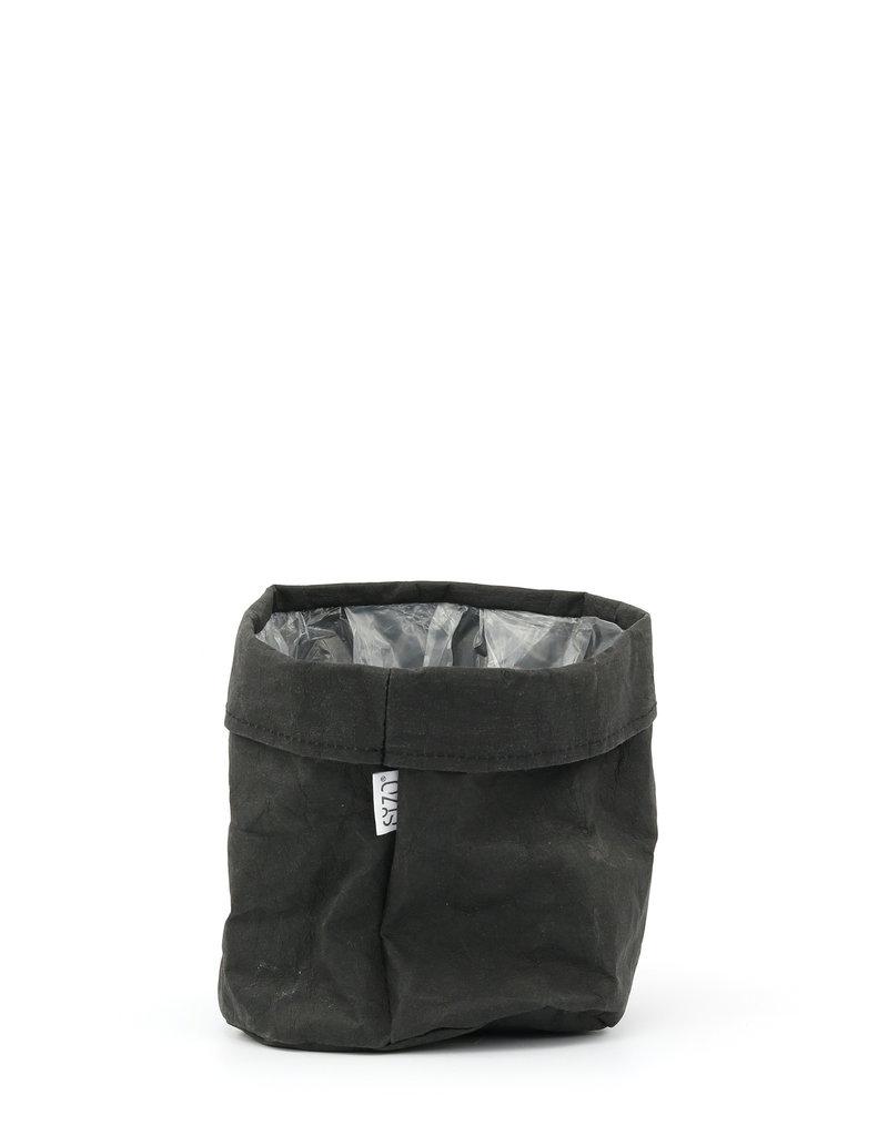 Plantenzak zwart kraftpapier 15x15cm