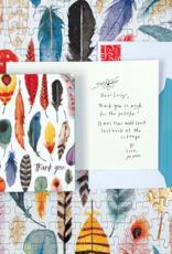 Galison Bedankbriefjes: Veren & Pijlen