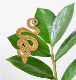 Gouden plantenhanger - Slang