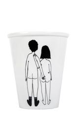 PORSELEINEN BEKER - Naked Couple Back