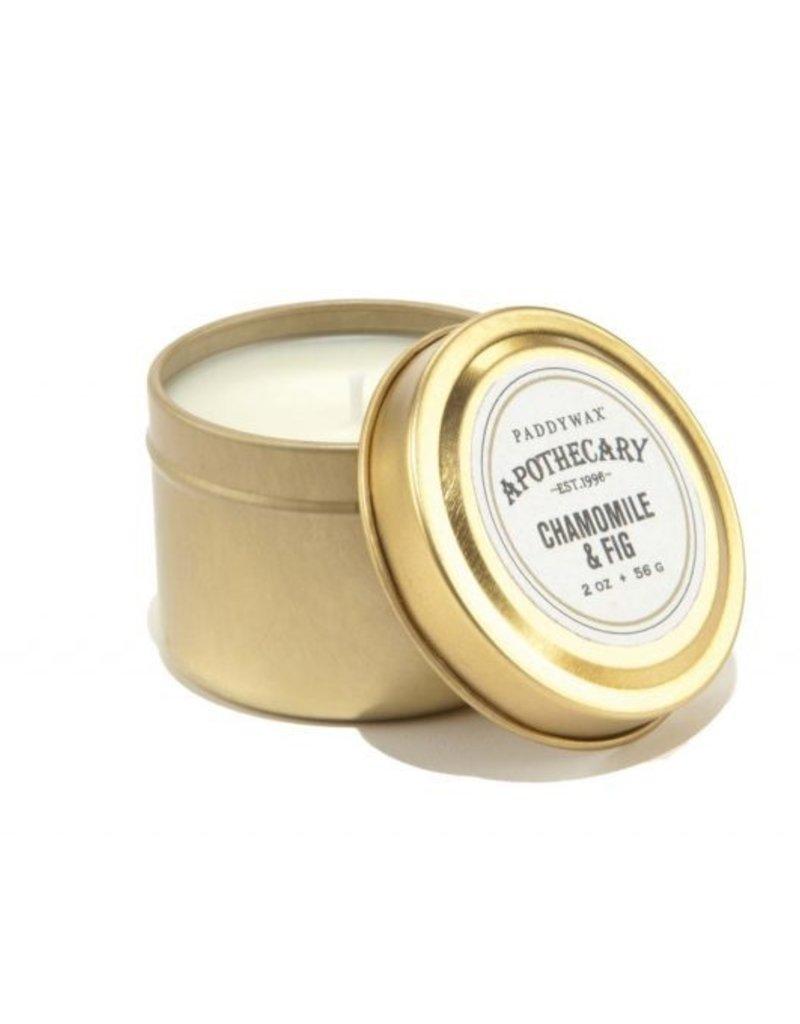 APOTHECARY - Petite Bougie en Etain - Chamomile & Fig (56g)