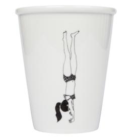 PORSELEINEN BEKER - Handstand Girl