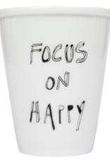 PORSELEINEN BEKER - Focus on Happy