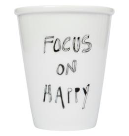 TASSE EN PORCELAINE - Focus on Happy