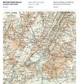 BLOC DE PAPIER A LETTRES - A4 - Cartes Historiques