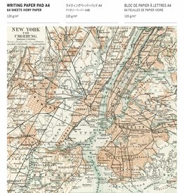 Writing Paper Pads A4 - HISTORICAL MAPS
