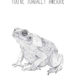 Animaux Spéciaux CARTE POSTAL - You're Toadally Awesome