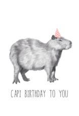 Animaux Spéciaux POSTCARD - Capi Birthday to You