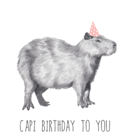 Animaux Spéciaux POSTCARD - Capi Birthday to You