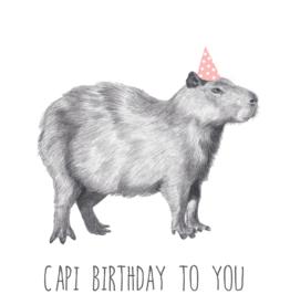 Animaux Spéciaux POSTKAART - Animaux Spéciaux - Capi Birthday to You