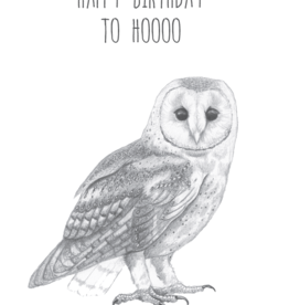 Animaux Spéciaux CARTE POSTAL - Happy Birthday to Hoooo