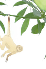GOLDEN PLANT HANGER - Spider Monkey