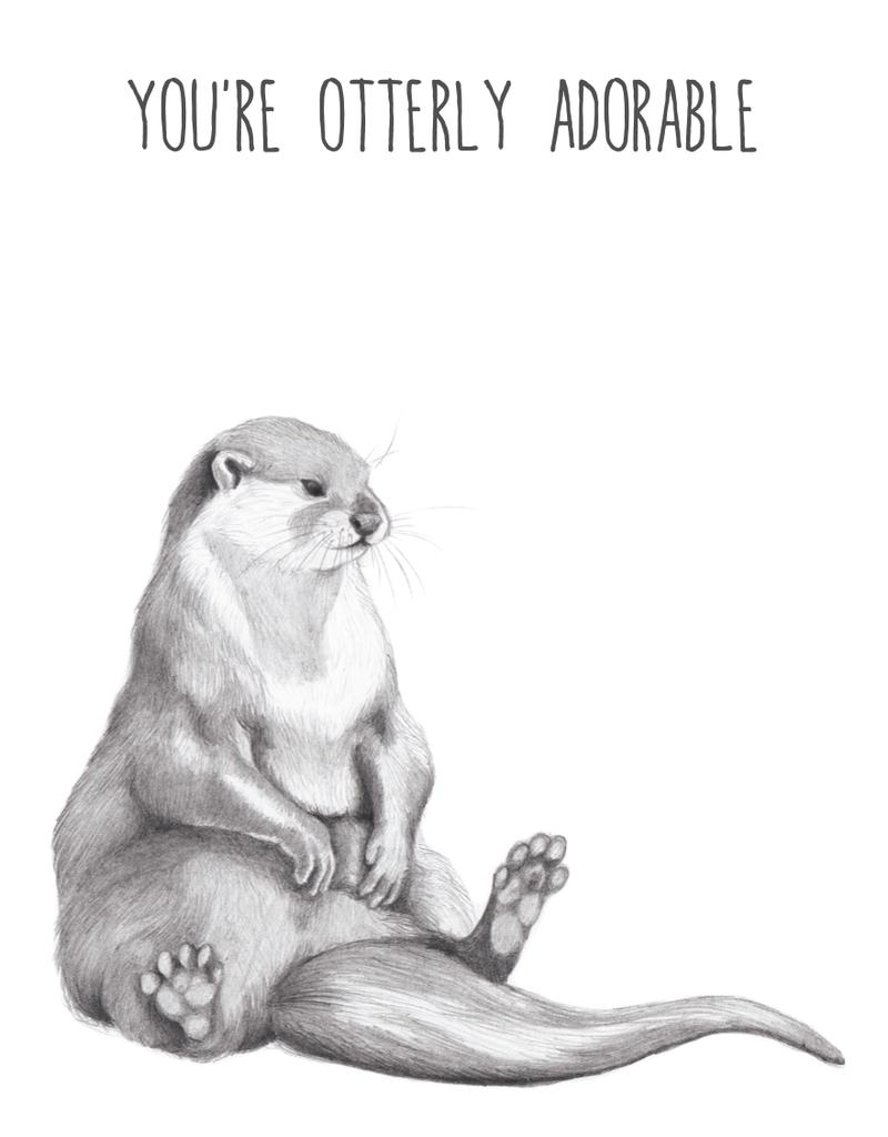 Animaux Spéciaux POSTCARD - Animaux Spéciaux - You're Otterly Adorable