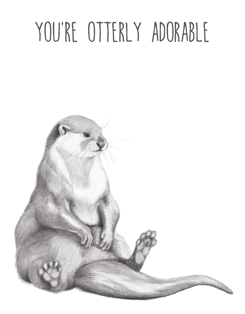 Animaux Spéciaux POSTCARD - You're Otterly Adorable