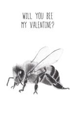 Animaux Spéciaux CARTE POSTAL - Will You Bee My Valentine