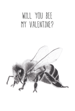 Animaux Spéciaux POSTCARD - Will You Bee My Valentine