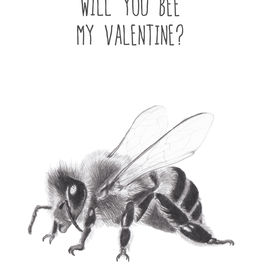 Animaux Spéciaux CARTE POSTAL - Will You Bee My Valentine