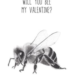 Animaux Spéciaux POSTKAART - Will You Bee My Valentine
