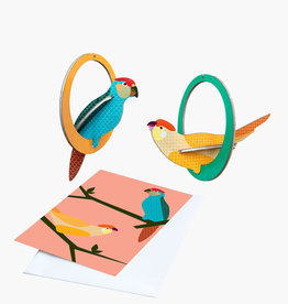 POP-OUT CARD - Swingende Parkieten