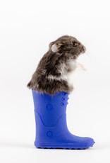 Animaux Spéciaux Grijs-witte hamster in blauwe laars
