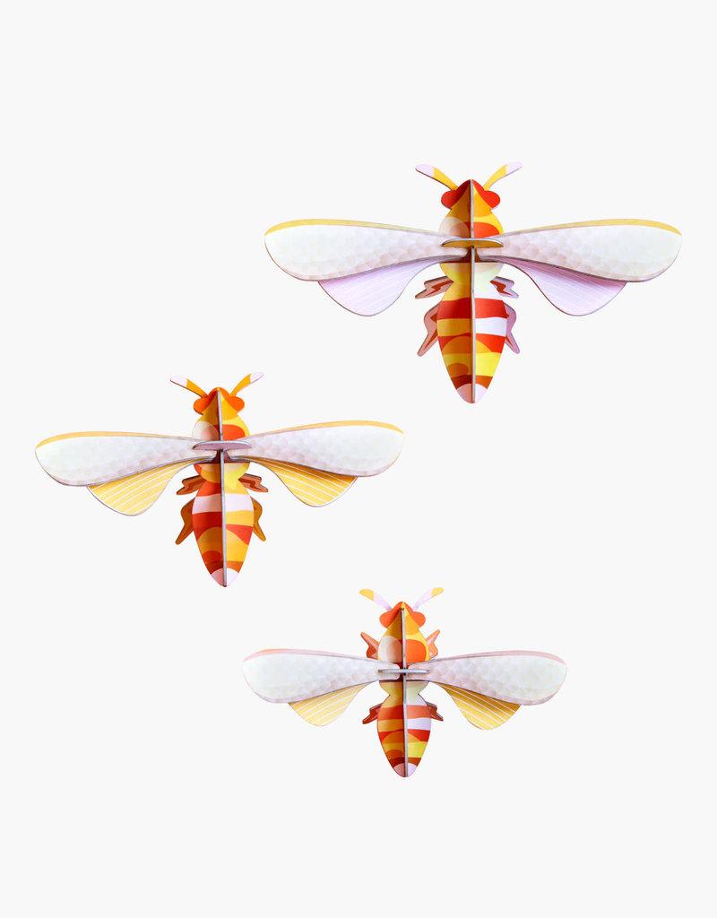 DIY WANDDECORATIE - Set van 3 Honingbijen