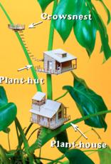 Plant-house  CABANES DANS LES ARBRES MINIATURES: Nid de Corbeau
