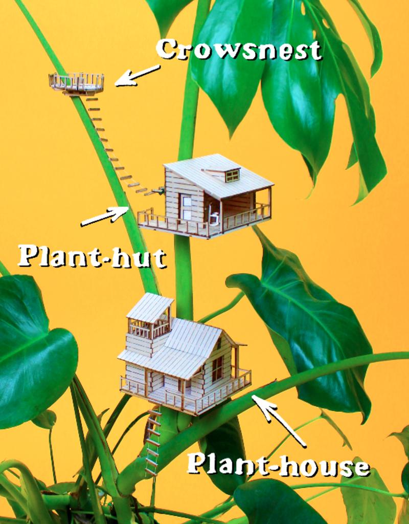 Plant-house MINIATUUR BOOMHUIS: Kraaiennest voor in je planten