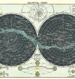 AFFICHE VINTAGE  - Carte Astronomique