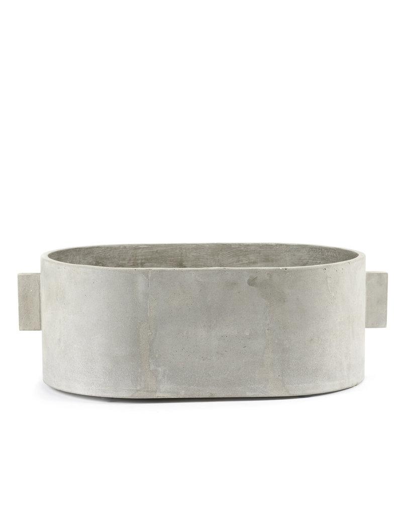 SERAX - Pot Ovaal Grijze Beton