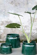 SERAX - Decorative Pot Pyramid Green
