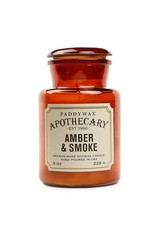 APOTHECARY - Glass Candle - Amber & Smoke