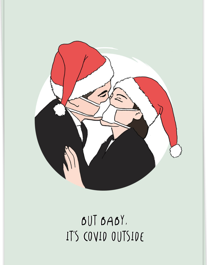 KAART BLANCHE - Mouth Mask Xmas
