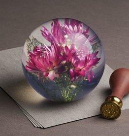 PRESSE-PAPIER - Fleur de Paille Rose