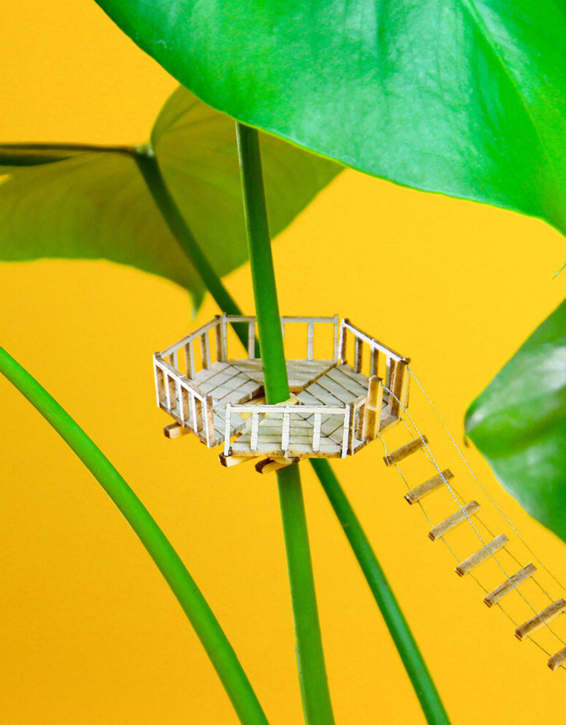 Plant-house MINIATURE TREEHOUSE: Crowsnest for plantlovers