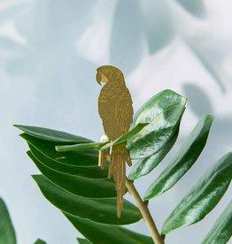 GOLDEN PLANT HANGER - Parrot