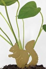 GOLDEN PLANT HANGER - Squirrel