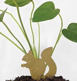 GOLDEN PLANT HANGER - Squirrel