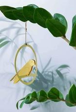 DECORATION - Perruche dorée à bascule