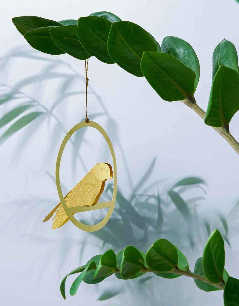 DECORATION - Hanging  brass bird