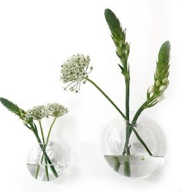 Glass wall vase