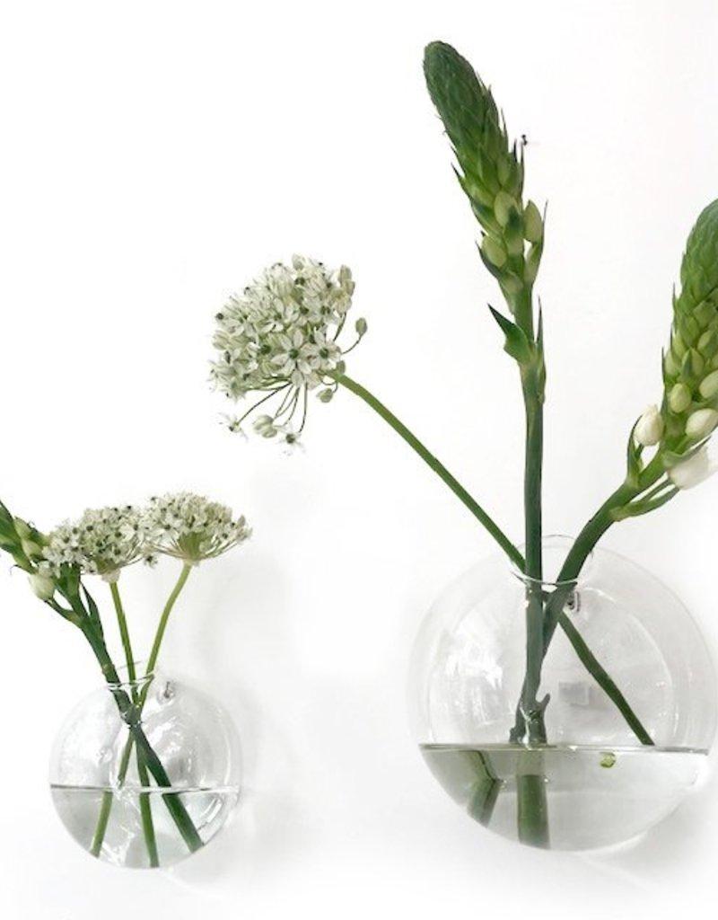 Vase mural en verre