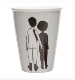 TASSE EN PORCELAINE - white man & black woman