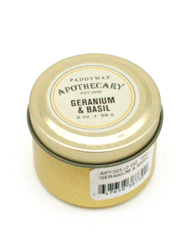 APOTHECARY - Kleine Blikken Kaars - Geranium & Basil - 56g