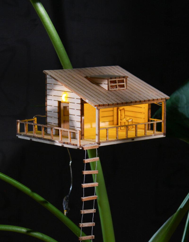 Plant-house Miniatuur boomhuis: Lichtjes voor je planten