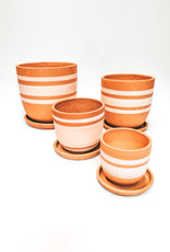 TERRACOTTA - rayures blanches