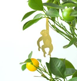 GOUDEN PLANTENHANGER - Chimpansee PRESALE